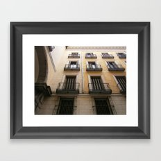 spanish windows Framed Art Print