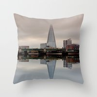 Reflections of the Shard Throw Pillow