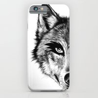 iPhone & iPod Case featuring The Wolf Next Door by florever