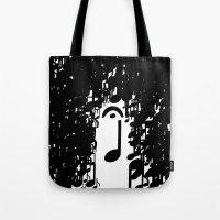 Musical Rain Tote Bag