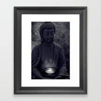 Buddha In The Dark Framed Art Print