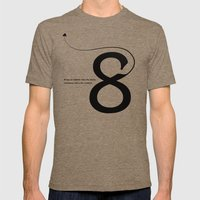 Number 8 Mens Fitted Tee Tri-Coffee SMALL