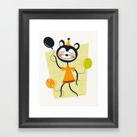 Bouncy Balloons  Framed Art Print