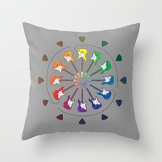 Vivid Melody Throw Pillow