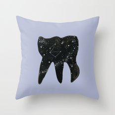 Cosmic Tooth Throw Pillow