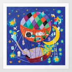 the star cleaners Art Print