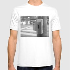 Paris crossing SMALL Mens Fitted Tee White