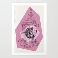 Fishy In Cage Art Print
