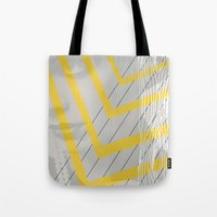 Lady in lines Tote Bag