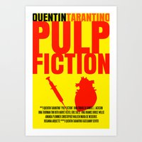 Pulp Fiction Movie Poster Art Print