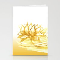 The Golden Lotus Stationery Cards