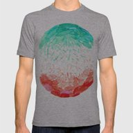 WATERMELON RAIN  Mens Fitted Tee Athletic Grey SMALL