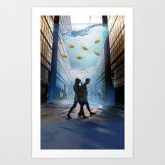 Urban Fish Bowl Art Print