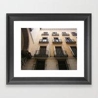 spanish windows Framed Art Print
