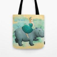 Lovely Hippo Tote Bag