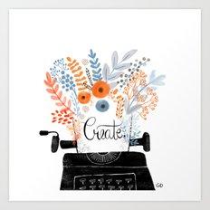 Create   Typewriter Art Print