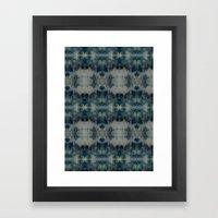 Dark Blue kaleidoscopic Framed Art Print