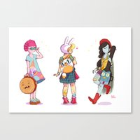Personal Backpacks Canvas Print