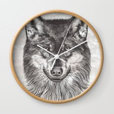 Canis Lupus (Gray Wolf) Wall Clock