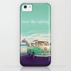 NEVER STOP EXPLORING THE BEACH iPhone 5c Slim Case