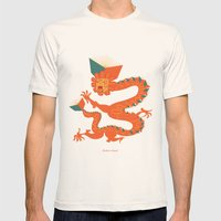Dragon Quetzalcoatl Mens Fitted Tee Natural SMALL