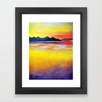 Landscape Painting  - Spectacular Sunset in Baja California Framed Art Print