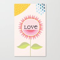 Canvas Print featuring Flower Love by Aura Lewis
