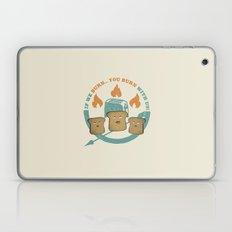 The Toast On Fire Laptop & iPad Skin