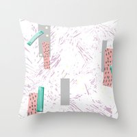 GRAPHIC. print, pattern, design, graphics, colour, illustration, art, design, Throw Pillow