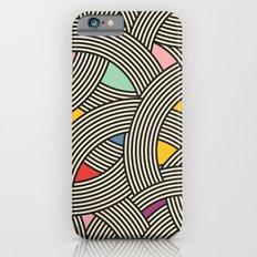 Modern Scandinavian Multi Colour Color Curve Graphic Slim Case iPhone 6s