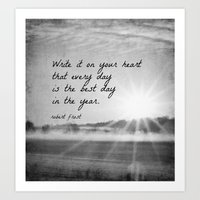 Write It On Your Heart Robert Frost Art Print