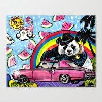 Miami Panda Canvas Print