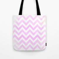 Pale Pink Textured Chevr… Tote Bag