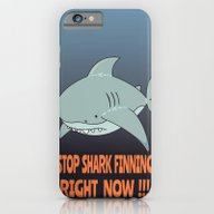 iPhone & iPod Case featuring Stop Shark Finning by Mangulica