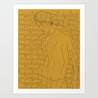 The Chap Remembers Sunny Days Art Print