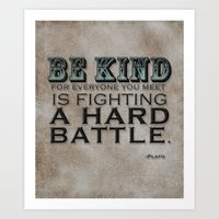 BE KIND Art Print