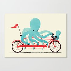 My Red Bike Canvas Print