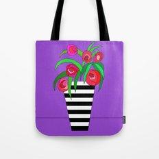 The striped vase Tote Bag