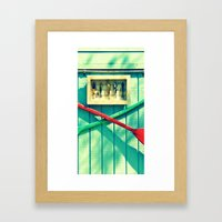 Boat Oars Panel 2 (3 pieces to make full photograph) Framed Art Print
