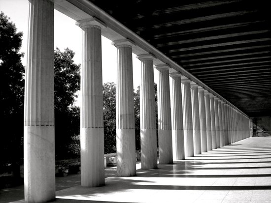 Parthenon Perspective Art Print