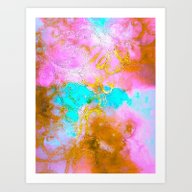 Curly Abstract Art Print