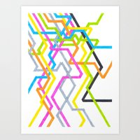 Neon 90s Metro Art Print