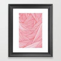 Red Feels Framed Art Print