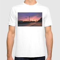 Miami Sunrise Mens Fitted Tee White SMALL