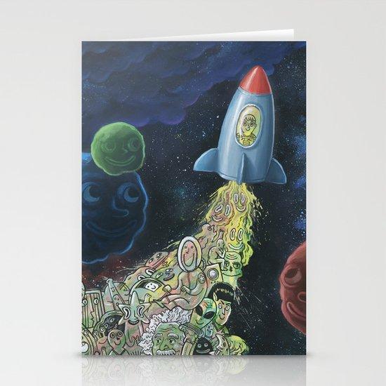 Rocket Man Stationery Card