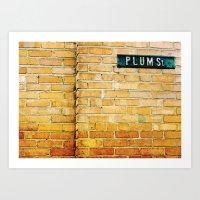 Plum Street. Art Print
