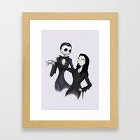 Jack & Sally Addams Framed Art Print