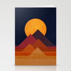 Full Moon And Pyramid Stationery Cards