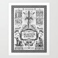 Legend Of Zelda Vintage … Art Print