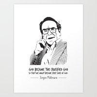 Jürgen Moltmann Quote Art Print